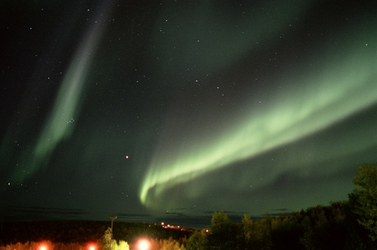 Polarlicht in Kiruna, Aug. 2005